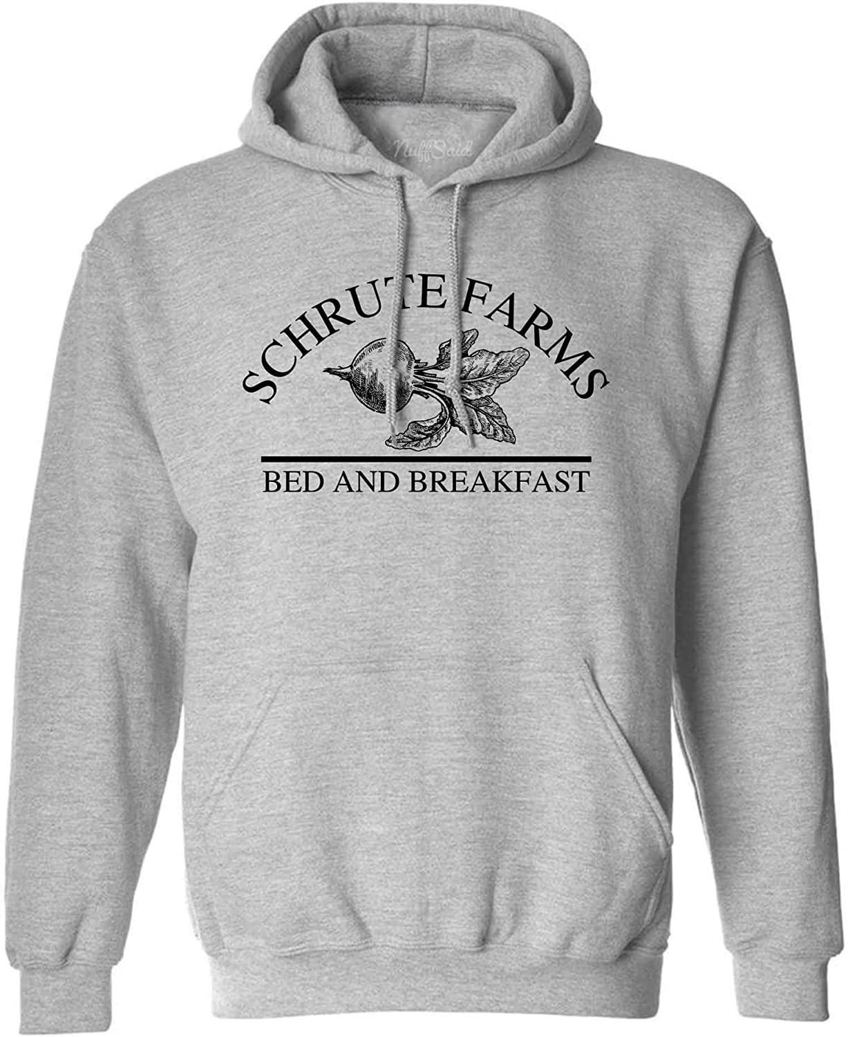 NuffSaid Schrute Farms Beets Bed and Breakfast Hooded Sweatshirt Sweater Pullover Unisex Hoodie