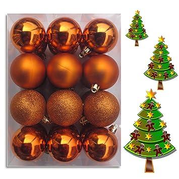 Deko Mit Christbaumkugeln.Wkg04 Weihnachtskugeln Christbaumkugeln Baumschmuck Weihnachtsbaumschmuck Deko 24er 60mm Orange