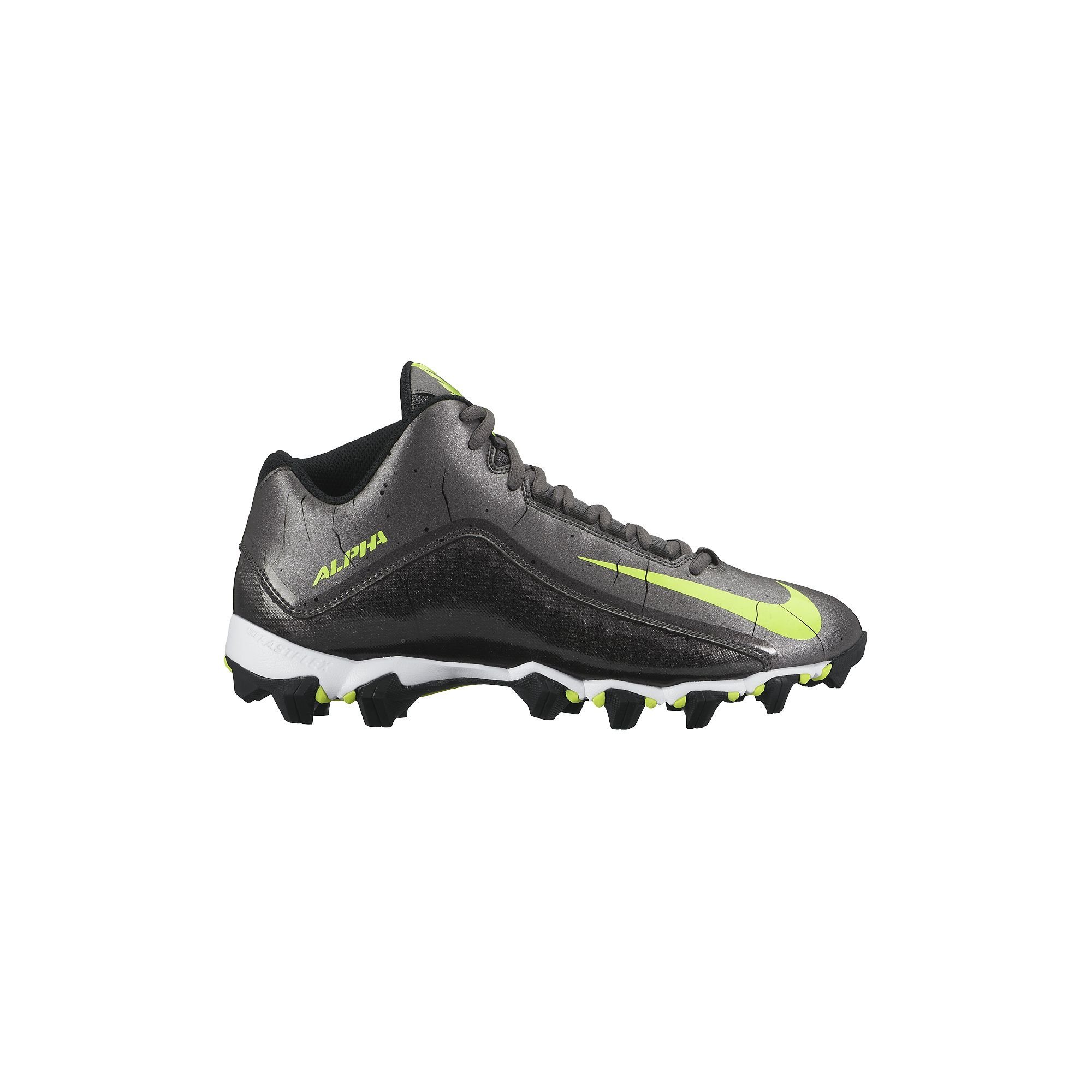 NIKE Men's Alpha Shark 2 Three-Quarter Football Cleat Dark Grey/Black/White Size 12 M US by NIKE