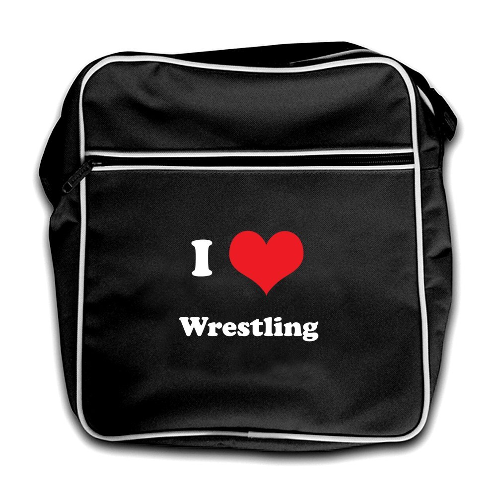 Dressdown I Love Wrestling - Retro Flight Bag Black