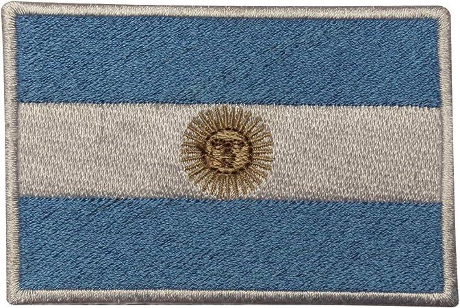 Parche bordado con la bandera nacional de Argentina para coser o planchar: Amazon.es: Hogar