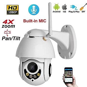 Love Life Cámara WiFi para Exteriores PTZ Cámara IP 1080p Cúpula de Velocidad CCTV Cámaras de Seguridad Cámara IP 2MP IR Inicio Vigilancia, Vista remota del ...
