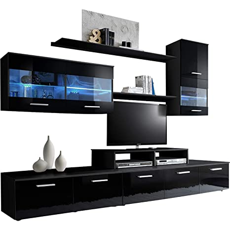 Amazon.com: domovero Kanto unidades de pared de TV estilo ...