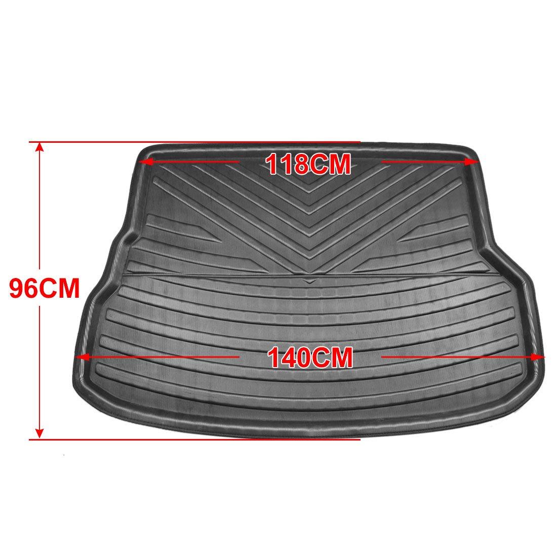 X AUTOHAUX Black Rear Trunk Boot Liner Cargo Mat Floor Tray for Lexus RX270 RX350 10-15