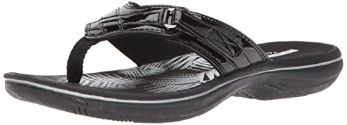 19ffe56c0 Clarks Women's Breeze SEA Platform, Black Synthetic Patent, ...