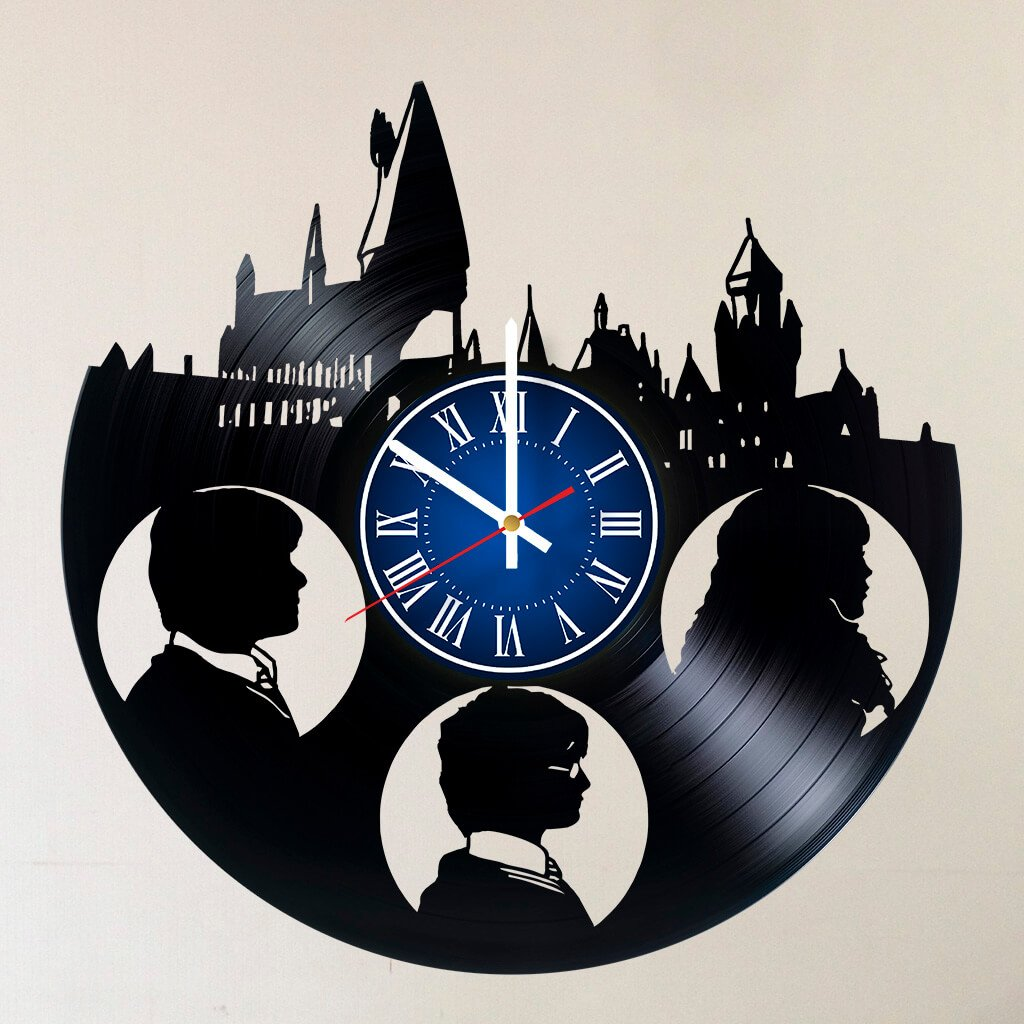 MY GIFT STORE HARRY POTTER 12 INCH/30 CM VINYL RECORD WALL CLOCK Unique Art Design of Magic Wizards GIFT FOR GIRLS - Gift idea for children, teens, adults
