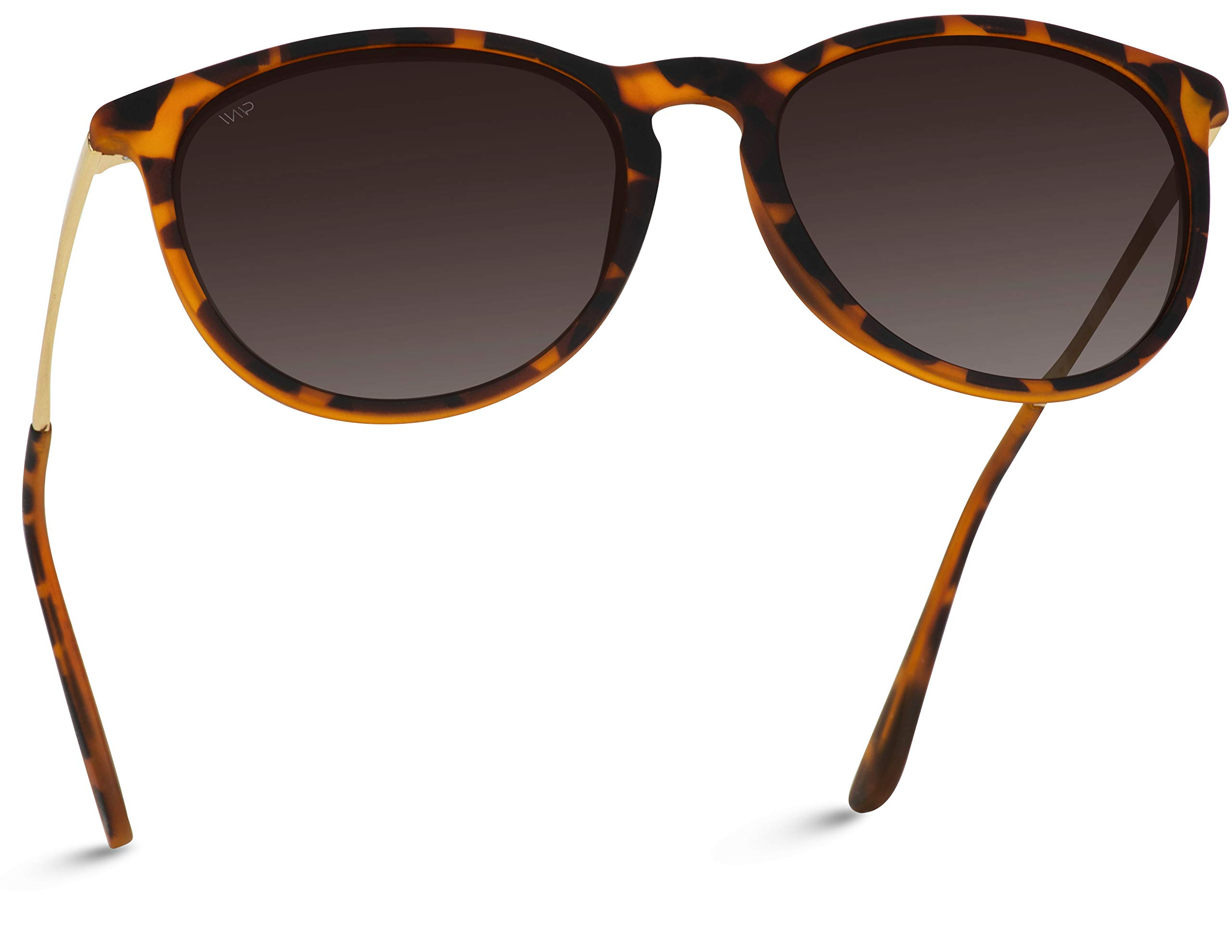 WearMe Pro EXCLUSIVE - Round Retro Polarized Lens Classic Sunglasses for Women by WearMe Pro
