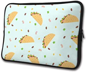 Burrito Food Pattern Laptop Sleeve Case Briefcase Cover Protective Computer Bag