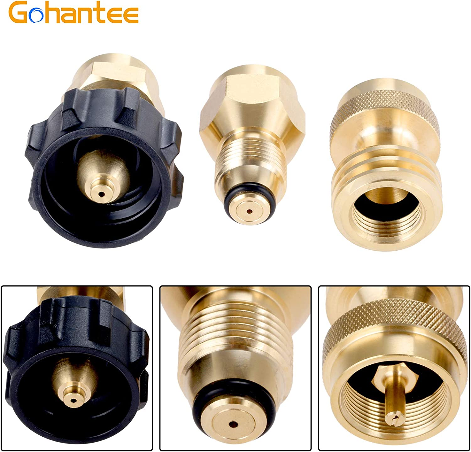 4x Propane Refill Adapters Gas Cylinder Tank Sealed Caps for Outdoor Camping