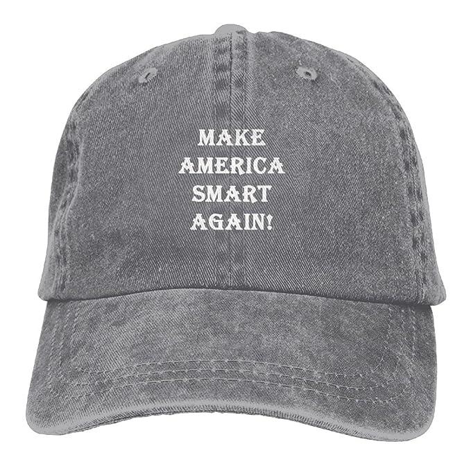 Rbfqfm Make America Smart Again 6 Custom Hats Caps Snapbacks Adjustable  Denim Hats for Adult Men e474cb3f743