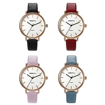 7ea390808 Unisex Fashion Bracelet Watch Slim Leather Strap Simple Japan Quartz Dress  Wristwatch for Men and Women