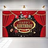 Las Vegas Casino Birthday Party Photo Booth Backdrop Background Banner with 19.7 Feet White String, Casino Theme Birthday Dec
