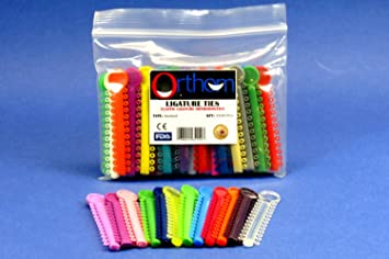 Amazon Com Dental Elastic Orthodontic Assorted Color Pack 1040