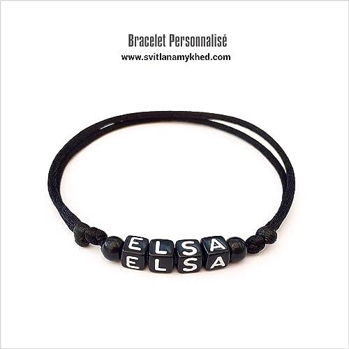 code de promo meilleur prix mode de luxe Bracelet ELSA personnalisé avec prénom (réversible) homme ...