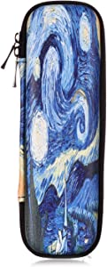 Dteck Zipper Holder Case for Apple Pencil/Apple Pencil 2 2018, Slim Light Pretty Nice Carrying Bag Box for iPad Pro Samsung Surface Pencil/Stylus Pen (with Built-in Pocket and Holder)-Starry Night