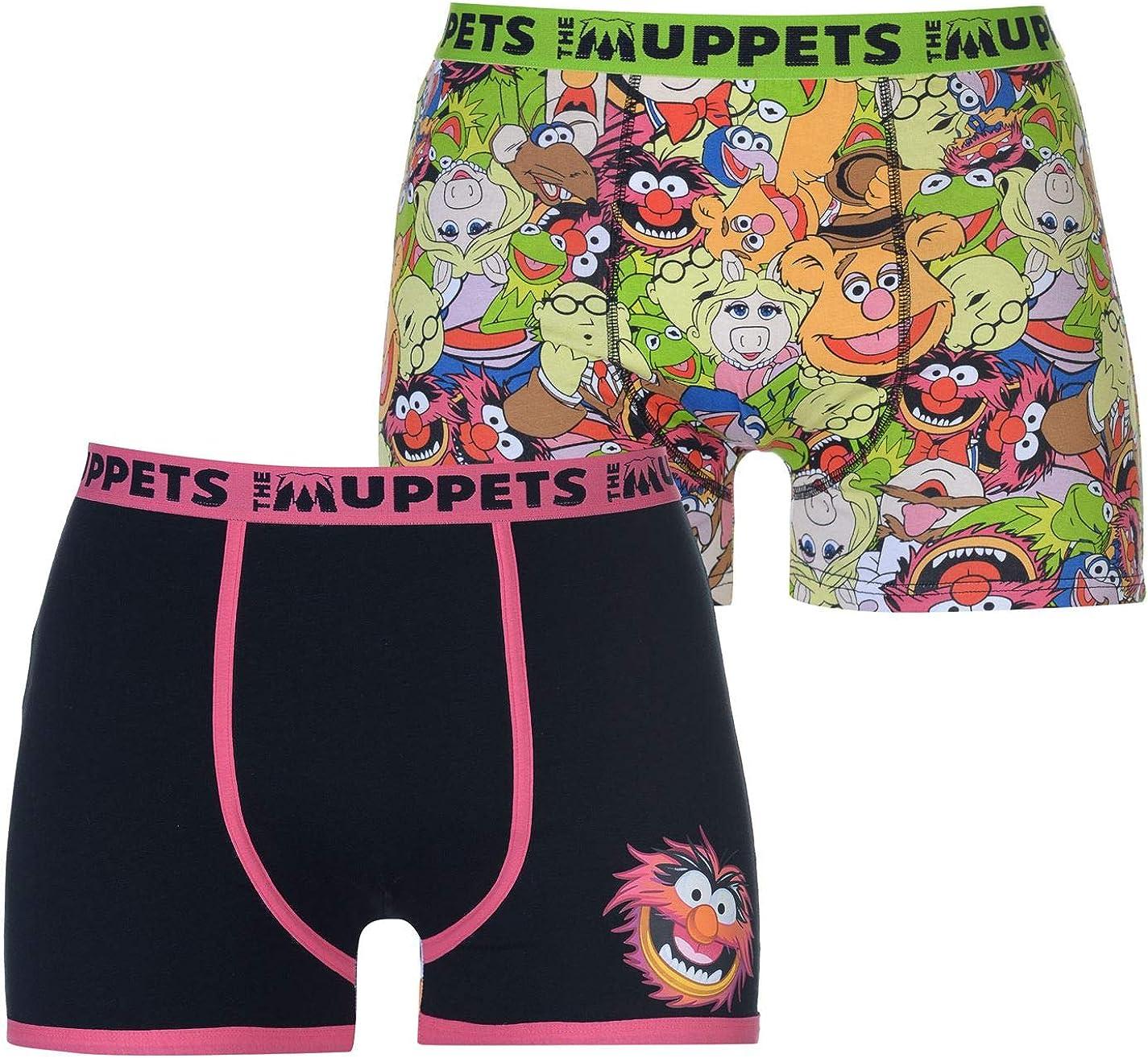 Character Herren 2 Paar Boxershorts Flatlockn/ähte Print