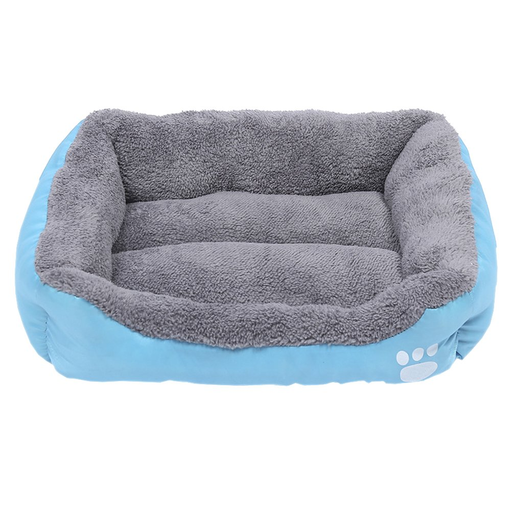 bluee XL (8062cm) bluee XL (8062cm) XFentech Ultra Soft Warm Pet Bed,Dog Mat Pad Cat Sleeping Cushion,Washable External Cover (bluee,XL)