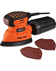 Sander, Tacklife Detail Sander 1.1A 130W 12000 RPM with 12 pcs Sandpaper, Dust Collection System for Tight Spaces Sanding in Home Decoration, Electric Sander for Furniture Finishing-PMS01A