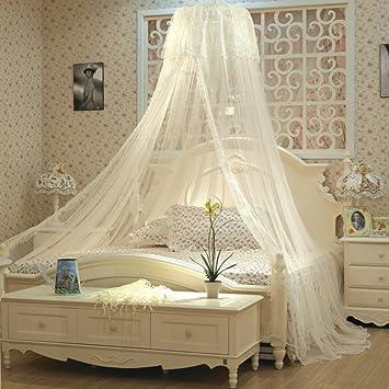 Mosquito Net Queen Size Bett Ruhigen Schlaf Insektenschutz Beige  180x200cm(71x79inch)