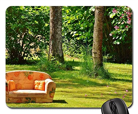 Amazon.com : Mouse Pad - Sofa Couch Nature Meadow Rest Chill ...