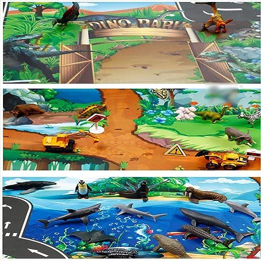 Cokil Kinder Karte Taft Tier Spielmatte Baby Road Teppich Home Decor P/ädagogisches Spielzeug Teppiche /& L/äufer