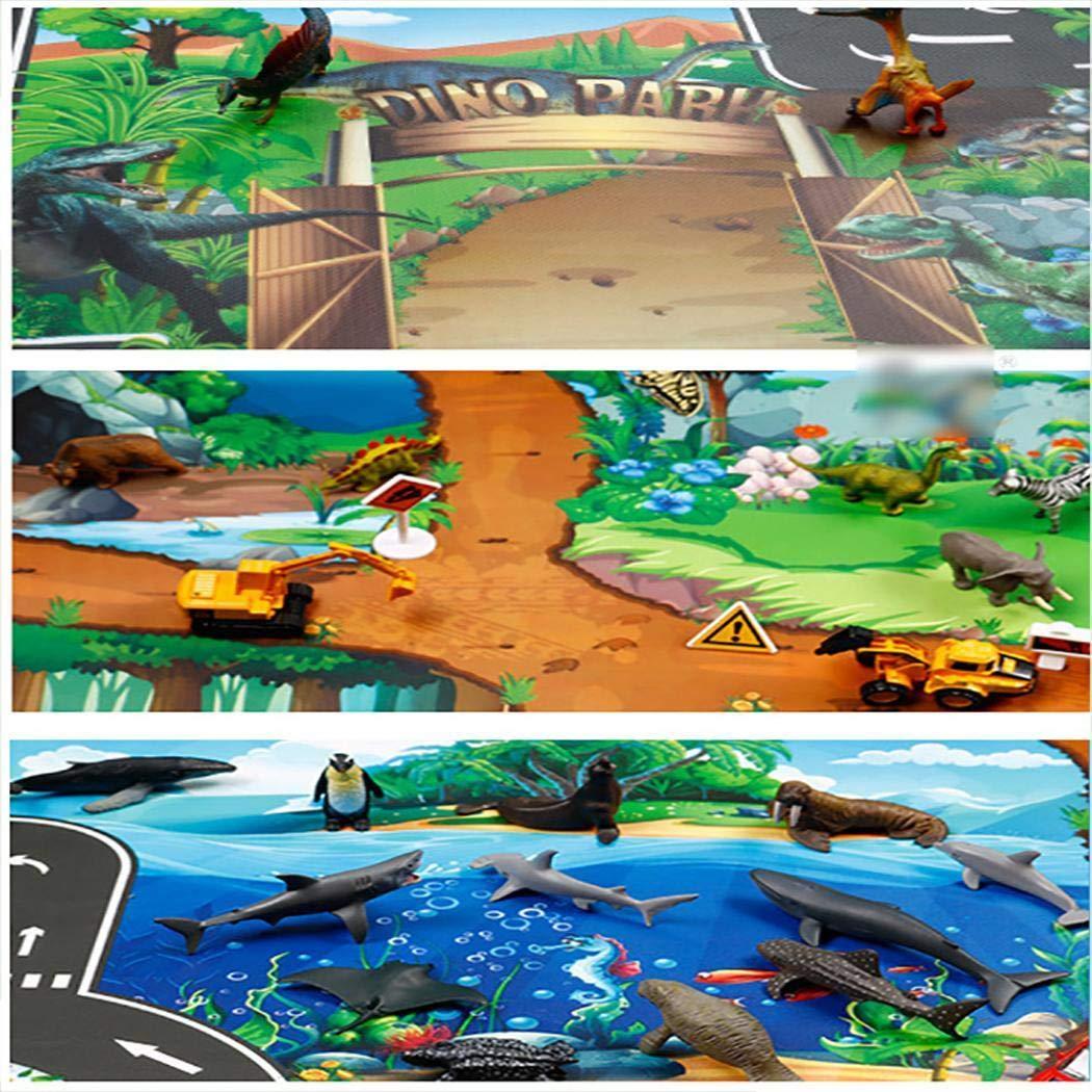 piokikio Kids Map Taffic Animal Play Mat Baby Road Carpet Home Decor Baby Educational Toy