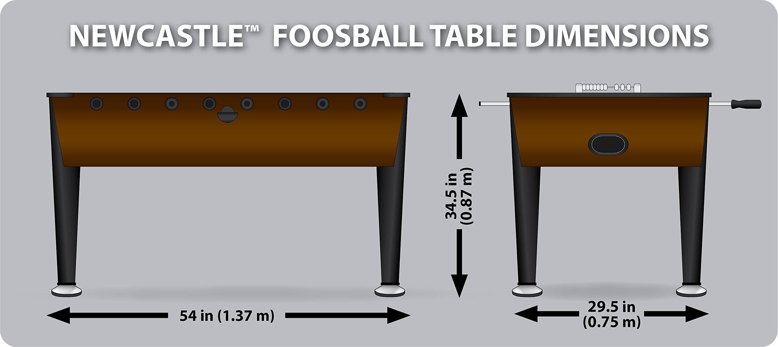 EastPoint Sports Newcastle Foosball Table, 54-Inch by EastPoint Sports
