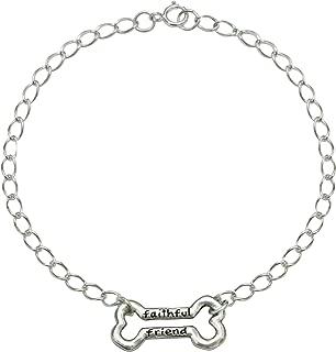product image for Rockin Doggie Sterling Silver Bracelet, Faithful Friend Bone