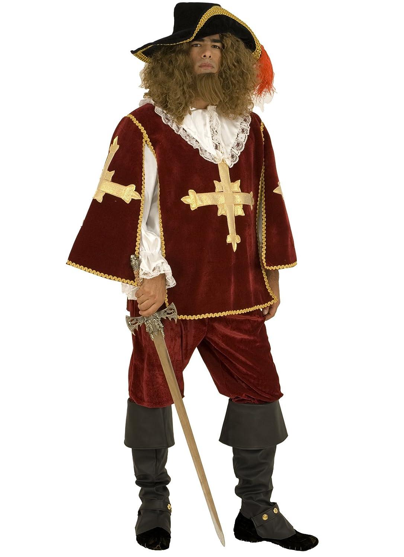 Stamco Disfraz Mosquetero Burdeos