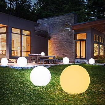 GYBYB Control remoto Luces de jardín LED al aire libre Bola de iluminación Lámpara de césped a prueba de agua Piscina Fiesta de bodas Decoración del hogar de vacaciones @ Diameter_15_cm: Amazon.es: