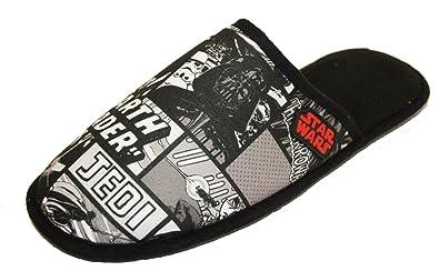 5d25c1b321 Star Wars Kafka Darth Vader Novelty Mule Slippers (LARGE)  Amazon.co ...