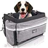 ALL FOR PAWS Delux 2 in 1 Dog Bike Basket Bicycle Basket Carrier Bag with Reflective Stripe for Small Dogs,Cats,Rabbit, upto