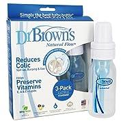 Dr. Brown's Natural Flow Standard Polypropylene Bottle (4 oz) - 3 Pack