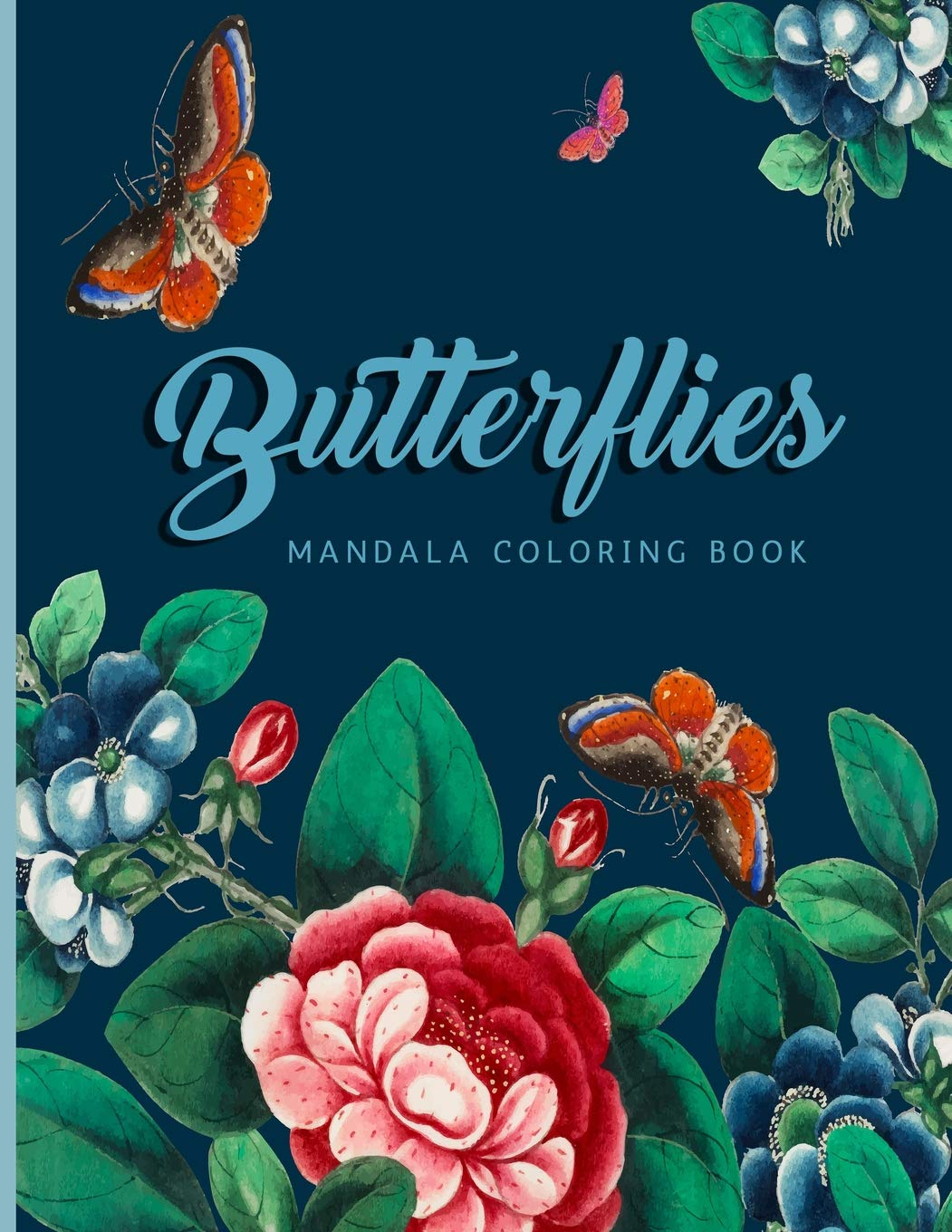 Amazon Com Butterflies Mandala Coloring Book For Adults Teens