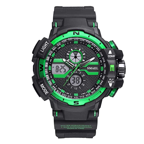 Beydodo Reloj de Doble Pantalla Relojes Electronicos Reloj Impermeable Relojes LED Reloj Hombre Moda Reloj Deportivo