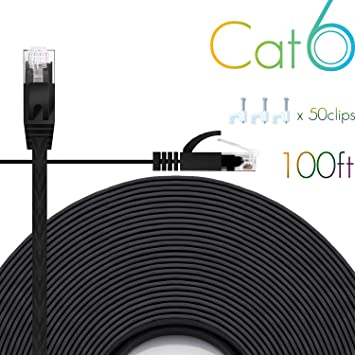 1//2M RJ45 CAT6 LAN Network Ethernet Cables Wan Flexible Internet Wire PVC