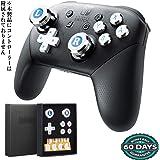 Switch Proコントローラー専用アシストキャップ アナログスティック with 十字キー キャップ、A/B/X/Y ボタン カバー Epindon Cap-Con C2 メタル製 シルバー 7個セット