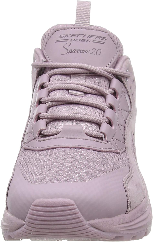 Skechers Women's Low-Top Trainers Purple (Mauve Suede/Mesh Mve)