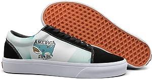 seventtynine Amereica Looks Like Shark Women Casual Sneaker Lace Up Shoe