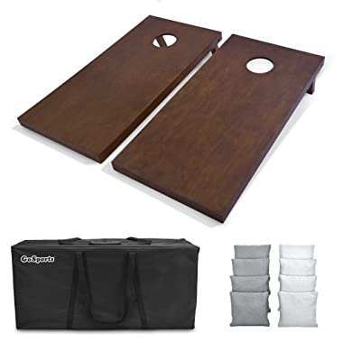 GoSports 4'x2' Regulation Size Wooden Cornhole Boards Set | Includes Carrying Case and Over 100 Color Options for Bean Bags