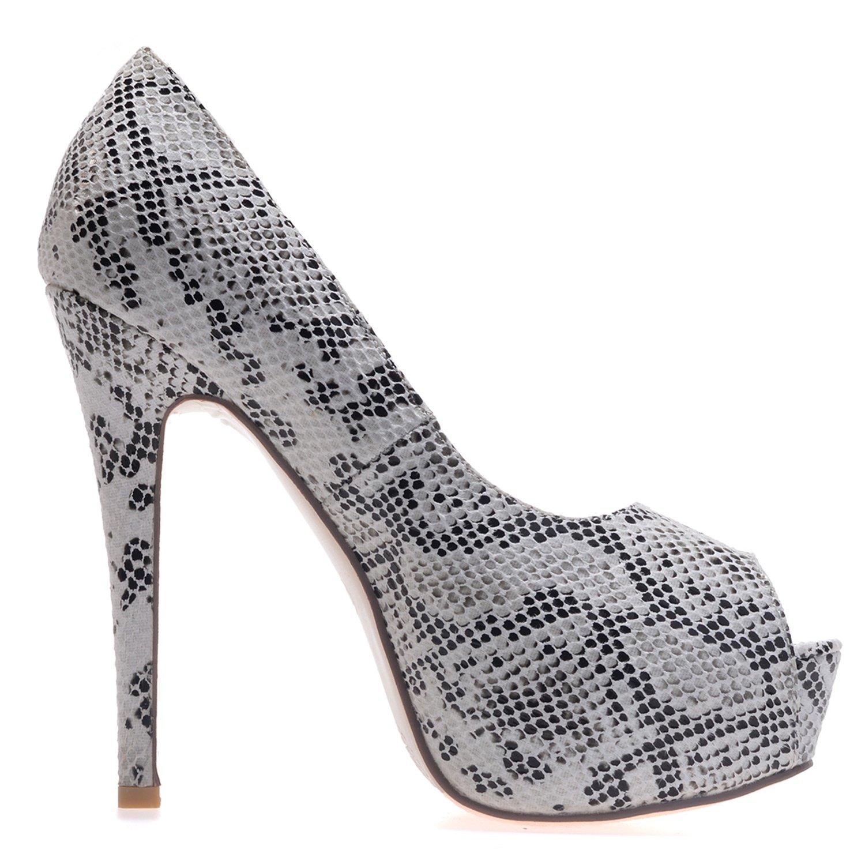 Elobaby 3128-31 Die Hochzeits-Schuhe der Frauen Elegante Noble reizend Plattform-Blick-Zehe 3128-31 Elobaby hoher Absatz/formal Weiß b8c5c7