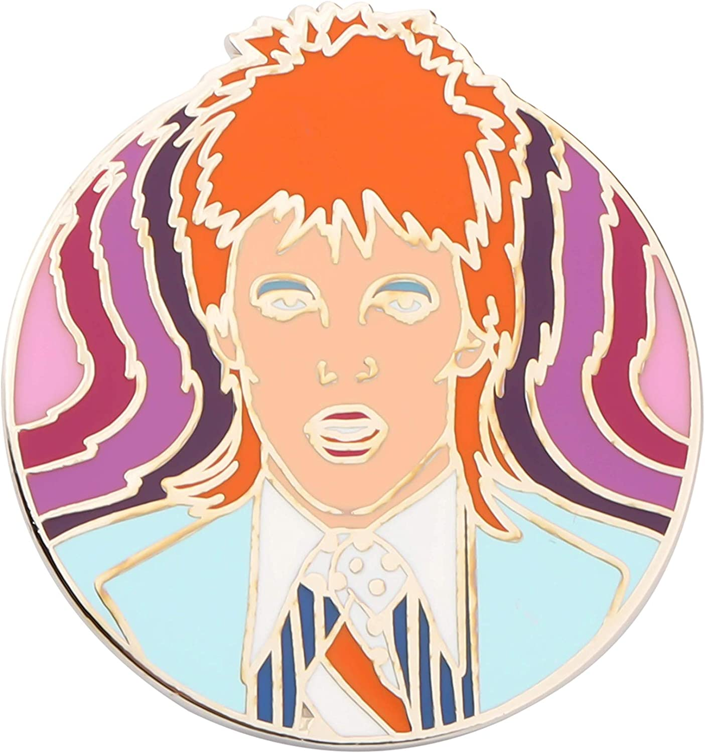 SEIRAA David Bowie Inspired Gift David Bowie Inspired Jewelry Lightning Bolt Enamel Pin for Bowie Fans