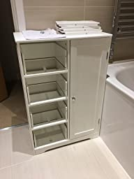 Double Door White Colour Cabinet Mirrored Bathroom Home Furniture Decorative Stylish Design By Home Living