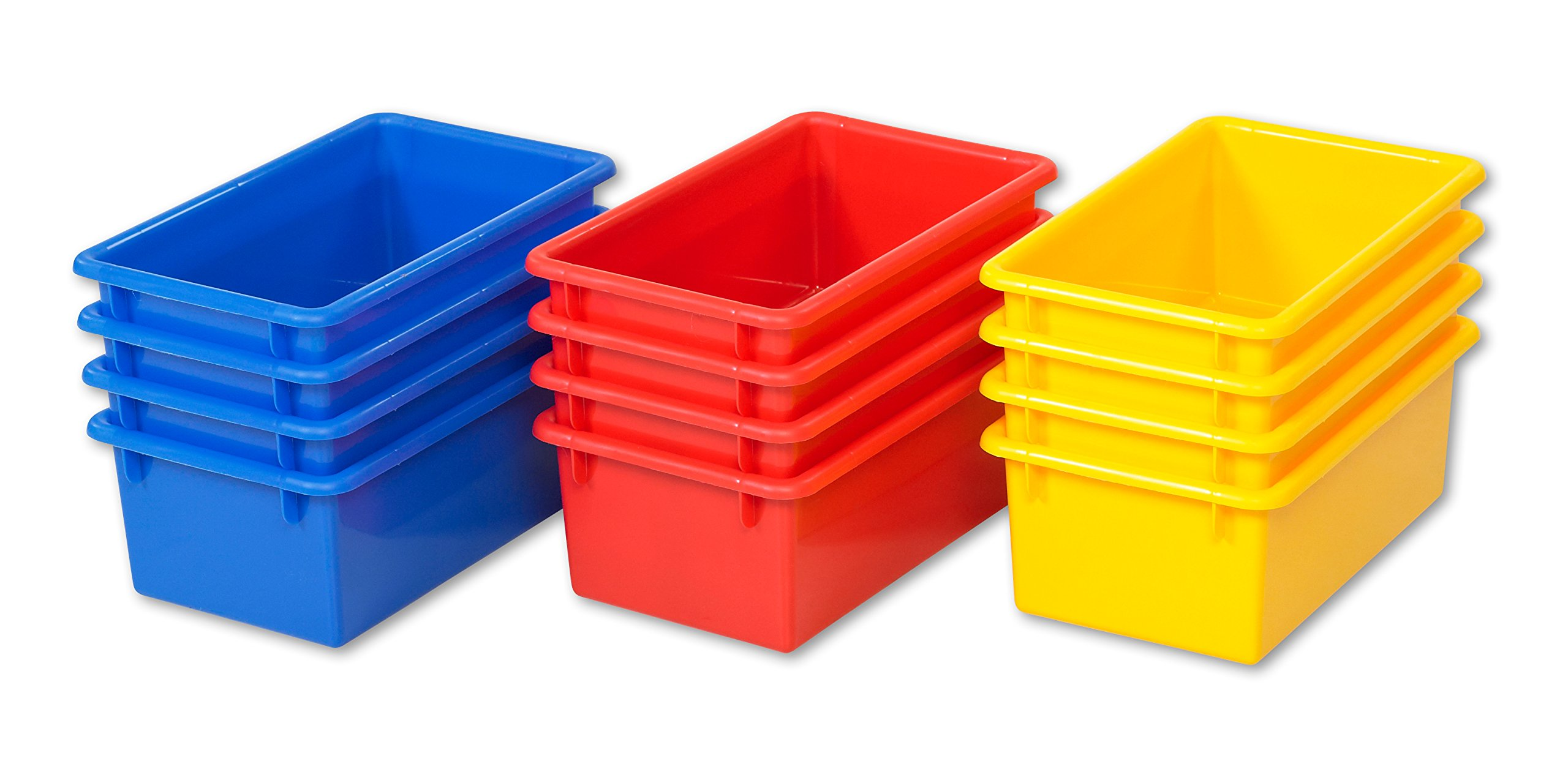 ECR4Kids Stack and Store Tubs, Assorted (15-Pack) by ECR4Kids