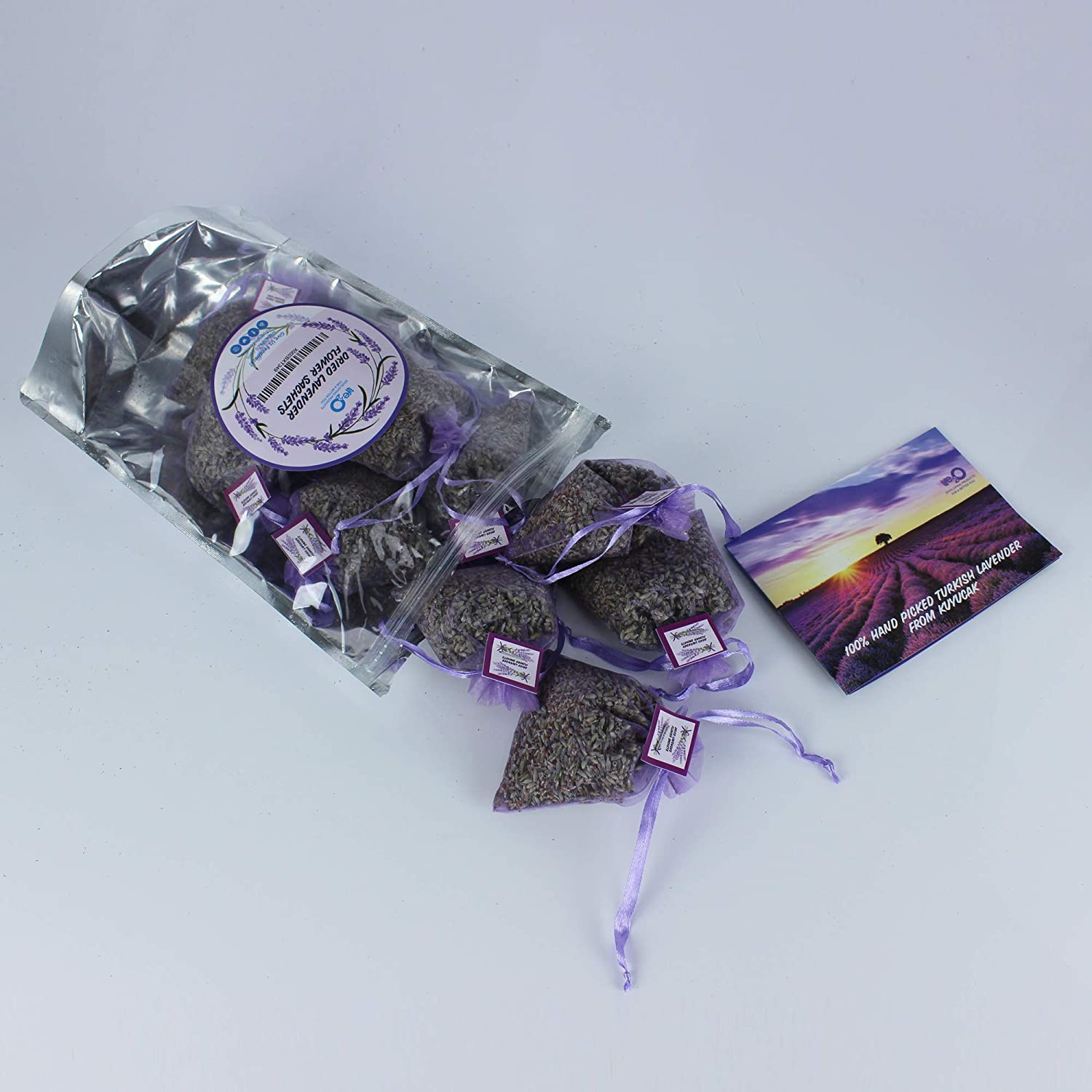 Turkish Lavender Sachets Bags Drawers More Potpourri Smell Of The Orient The Ferrari Of Lavender Larger Flower Buds Closet Longer Life And Potent Scent Bundle Of 10 Large Pouches Clothes