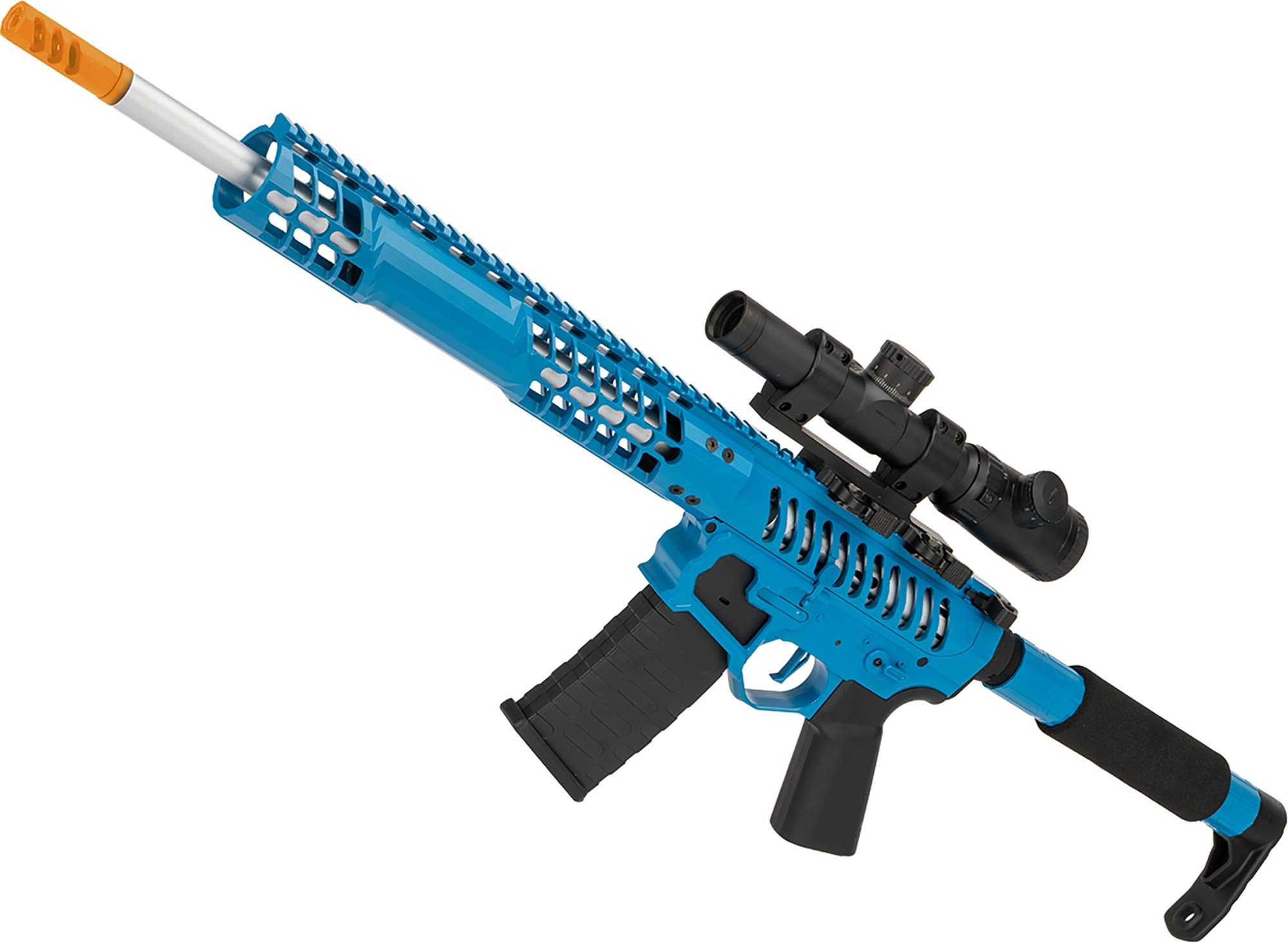 Evike EMG F1 Firearms BDR-15 3G AR15 Full Metal Airsoft AEG Rifle (Color: Blue Selector/Tron Stock) by Evike
