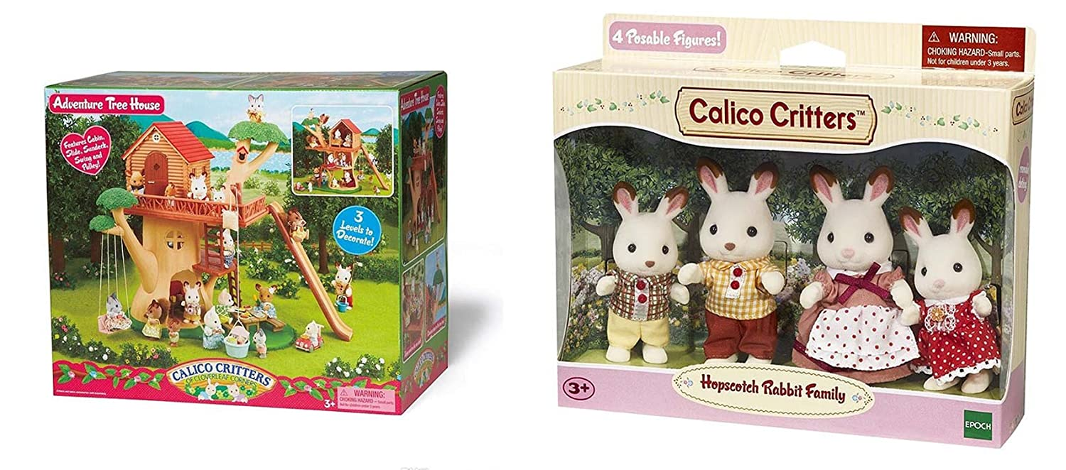 最先端 Maven B01ANY6WJA Gifts: Calico Critters Adventure of Cloverleaf - Corners Bundle - Hopscotch Rabbit Family Set with Adventure Tree House Set - B01ANY6WJA, ホクボウチョウ:1521b0c5 --- diceanalytics.pk