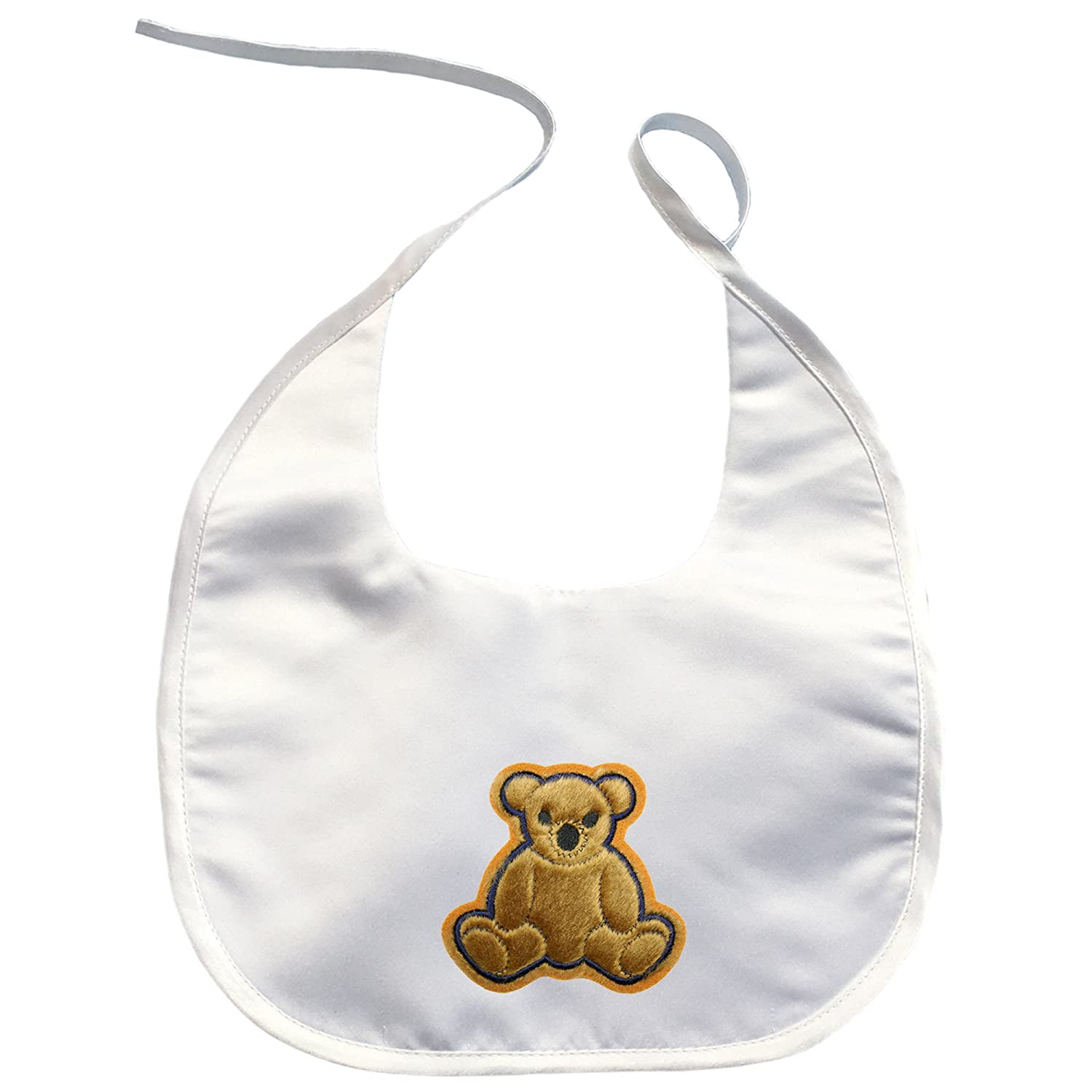 Baby Toddler Boy Girl unisex White Bib Kaylee Firefly Cute Bear Embroidery Patch