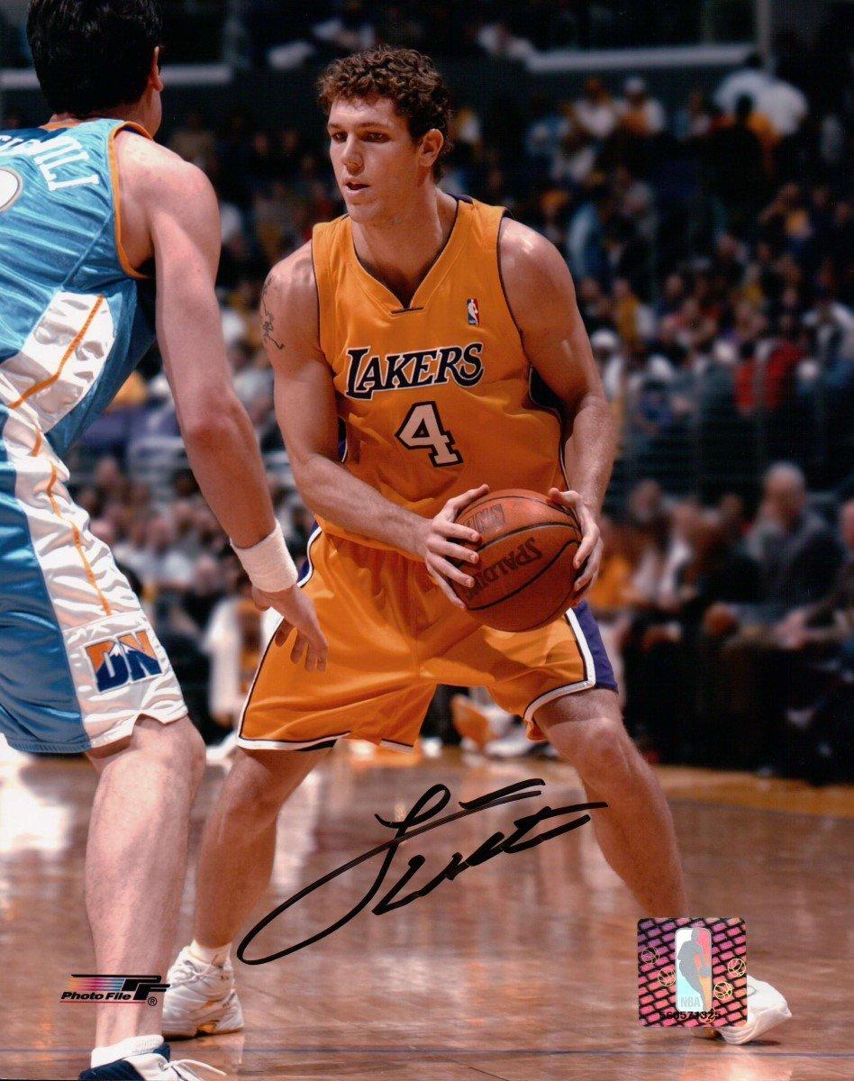 Luke Walton Signed Autographed 8X10 Photo LA Lakers Home vs Nuggets w//COA