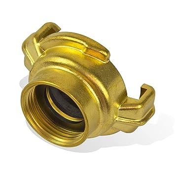 geeignet f/ür 3//4 Zoll Gartenschlauch mit Schlaucht/ülle und GK-Kupplung Stabilo-Sanitaer Messing Schlauchst/ück komfortabler Schlauchanschluss